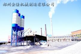 环保型HZS75混凝土搅拌站参数
