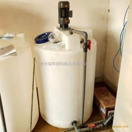 瑞�x500l污水�理桶 反�B透水箱 pe加�箱��拌桶