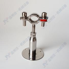 带固定底座可调节高度不锈钢管支架 可调节高度不锈钢管卡 管箍