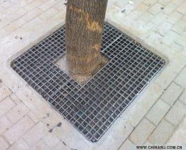 灰色树篦子玻璃钢格栅城市绿化树篦子树坑盖板