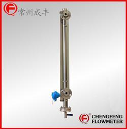 �X合金翻板指示液位� ��4-20mA�出磁翻板液位�