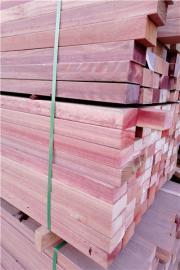 柳桉木板材方料圆柱定制加工厂