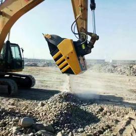 卡特cat320挖机鄂式破碎斗建筑垃圾粉碎斗