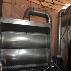 喷漆台水帘柜大理石打磨空气净化灰尘吸附处理器环保设备