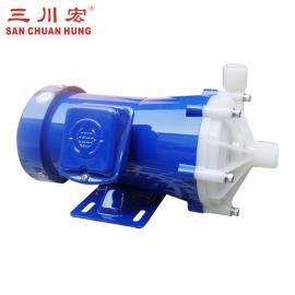 三川宏耐酸�A磁力泵氟塑料耐腐�g泵MEF100