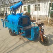恒达电动三轮打药消毒车带喷雾洒水车小型雾化消毒打药车