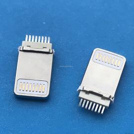 IPHONE 8Pin 公�^ 加�L L=8.8MM 一�w式 �A板 不包�z 白色�z芯