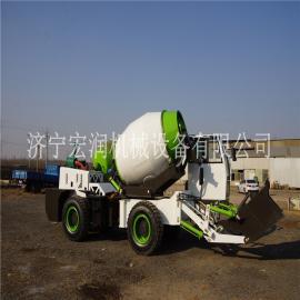 铰接式4方自上料搅拌车 多功能装载式移动自上料混凝土搅拌车