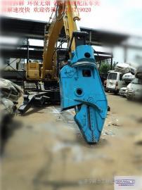 固废金属解体机 挖掘机拆车 拆车机液压剪刀+钳压臂 变赚钱高手