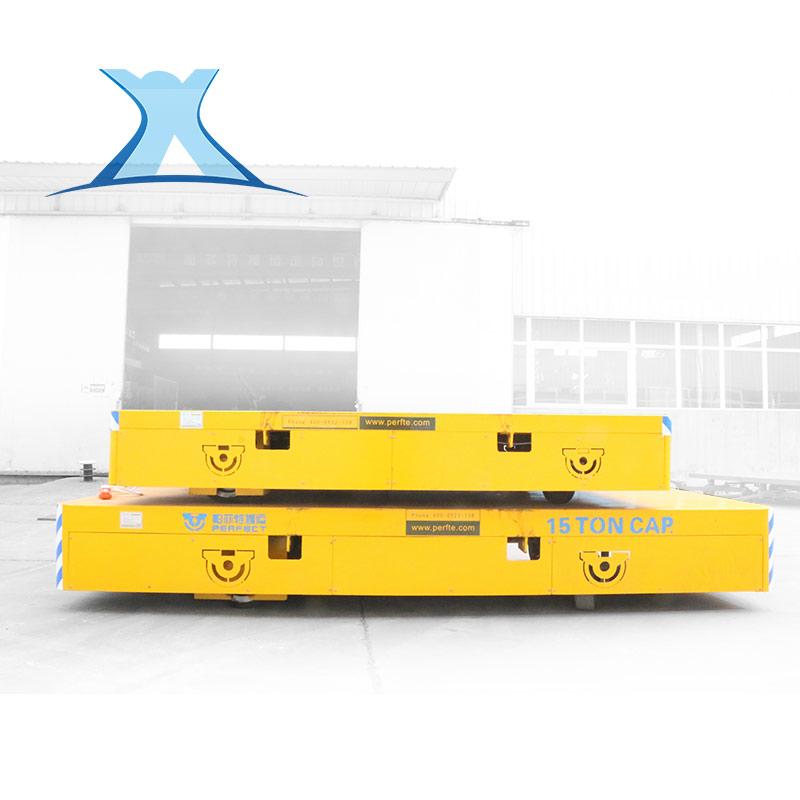 百特智能 无轨搬运车百特BWP20T冲压机铸件转运过跨车聚氨酯包胶轮平车 bwp