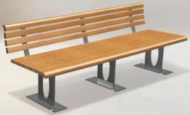 休闲椅定制加工厂-公园椅制造商户外景观长凳-防腐木休闲长凳