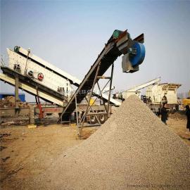 建筑垃圾再生骨料 环保节能移动破碎制沙设备