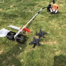 小型背负式除草松土机 多用途汽油锄地松土机