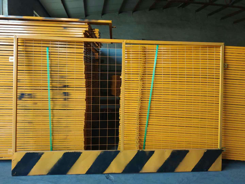 现货基坑临边护栏 施工工地黄黑基坑临边防护栏杆