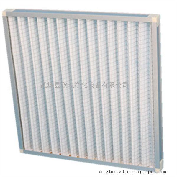 初效复合网过滤器 板式过滤器 铝框带护网无纺布空气过滤器
