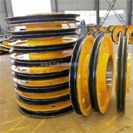 直径800*270铸钢热轧起重滑轮片 卷扬机用滑轮组 钢丝绳滑轮组