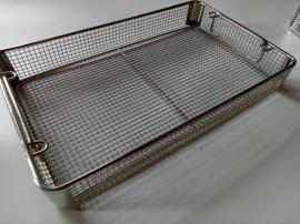电焊网包角消毒筐 不锈钢网筐网篮 双提手金属篮筐