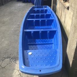 5米加宽塑料渔船养殖船休闲娱乐双层船牛筋材质抗氧化