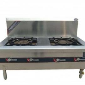 燃气双头低汤灶双头炖汤炉商用厨房设备饭店厨房设备