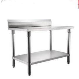 304不锈钢厨房靠背双层工作台(加板)操作 工作 打荷台