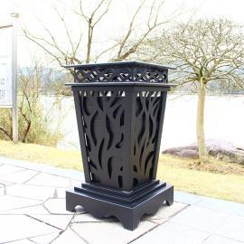 户外垃圾桶-铝合金垃圾桶-金shu垃圾桶