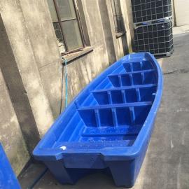 5米shuang层塑料牛筋船河dao清理船yun输船滚塑一次成型