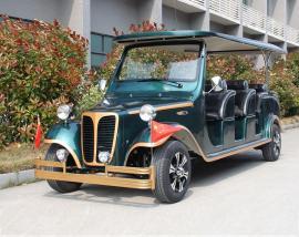 12座豪华电动观光车,铝合金车架玻璃钢车身