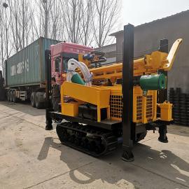 履带式全液压柴油钻机 气动水井钻机高效率打水井速度快