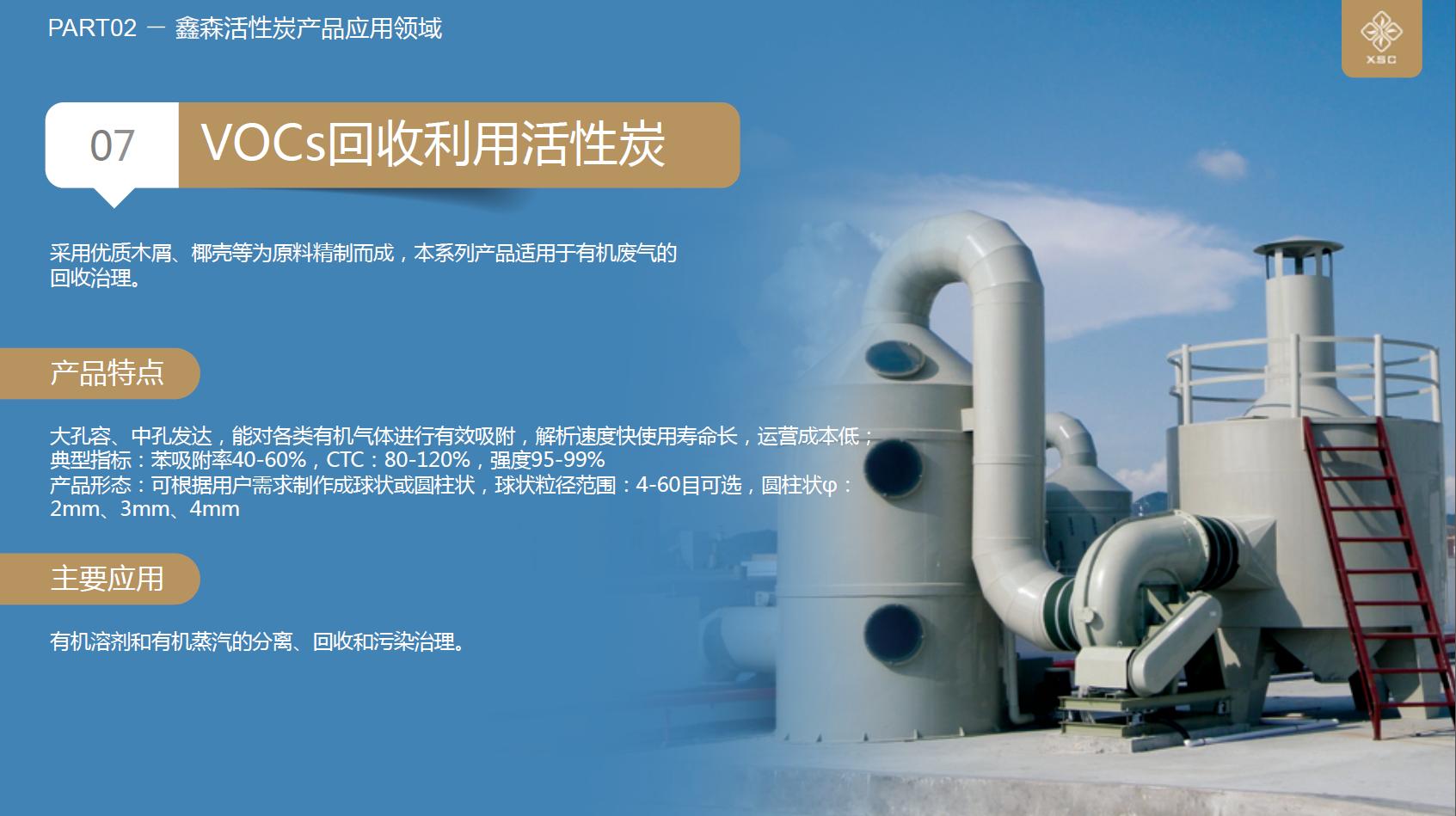 VOCs治理溶剂回收空气净化木质柱状活性炭