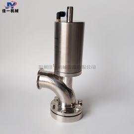 卫生级气动罐底阀 上展式气动罐底放料阀 不锈钢快装气动放料阀
