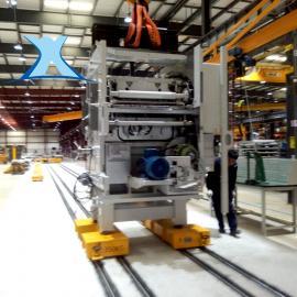 车间搬运电动轨道运输车20吨转弯车