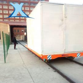 百特智能转运200T铸造大吨位搬运车道轨式蓄电池电动平车
