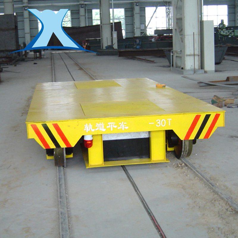 百特智能流水线作业的轨道台车 地沟滑触线轨道车非标定制