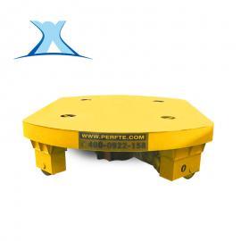 百特智能重型设备周转车 纵横移动转运车 90°电动转盘轨道车非标定制