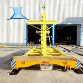 百特智能转运洗车房移动大动力火车头搬运车5吨电动轨道平车