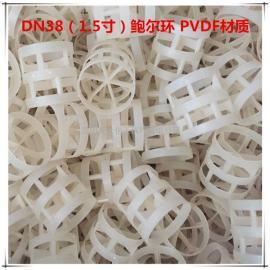 昆山天大氟塑料鲍尔环 1.5寸PVDF鲍尔环 DN38聚偏氟乙烯鲍尔环