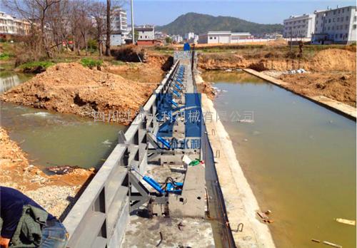 【江he水li】JHFB-6X2 钢结构液压自控翻板闸门 水力自控翻板闸门