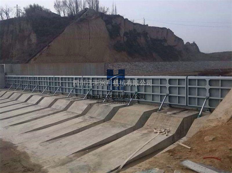 【江he水利】液压升降坝 液压huodong坝 景观合页坝JH-YYB6X2