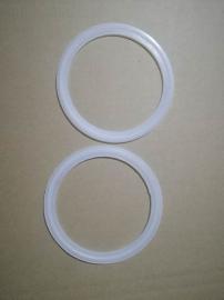 硅胶四氟卡箍密封垫,三元乙丙快接密封垫,带滤网快装垫