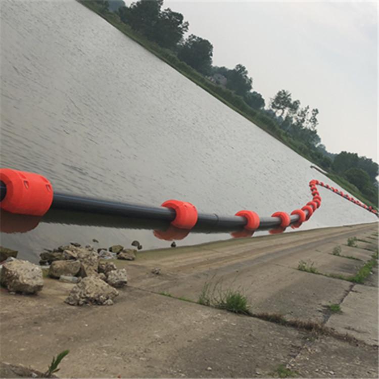 水面漂浮抽泥浆管道托浮 悬浮管道塑料浮体介绍