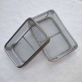 304不锈钢网筐网篮产品,图@不锈钢消毒筐展示