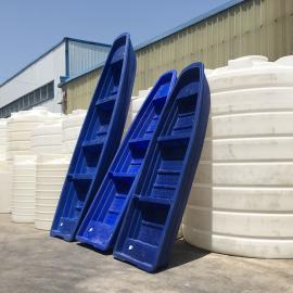 5米养殖专用塑料船双层牛筋船河道清理船颜色可定制