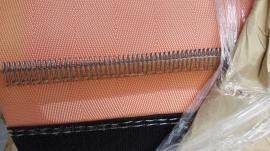 带式真空皮带脱水机滤布 橘色PES /PET材质耐酸碱滤布