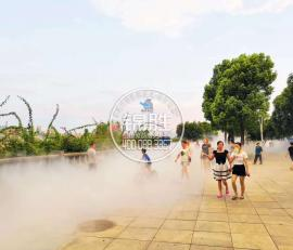 简阳市户外水雾降温,水雾造景,水雾设备