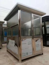 景区钢结构岗亭-不锈钢岗亭-PVC挂板岗亭加工定制