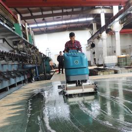 工厂重油污地面清洗机水泥环氧地面手推滚刷式全自动洗地机大型