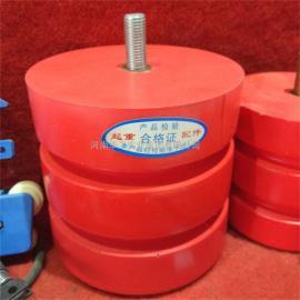 直径160*125mm聚氨酯缓冲器 红色实心螺柱式缓冲块 起重机防撞器