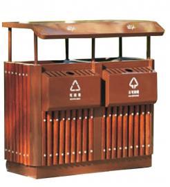园林分类果皮箱居民委员会分类果壳箱木条垃圾桶