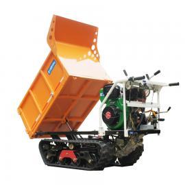 瓦力jixie迷你全地形液压zi卸橡胶lv带运输cheWL-500